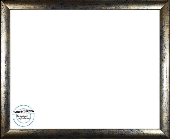 Homedecoration Colorado – Fotolijst – Fotomaat – 25 x 61 cm – Blauw goud gevlekt