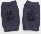 Luxe kniebeschermers kneepads voor baby en peuter - unisex 6-18 mnd - bescherming van knieën en kleding - 1 paar donkergrijs - DisQounts