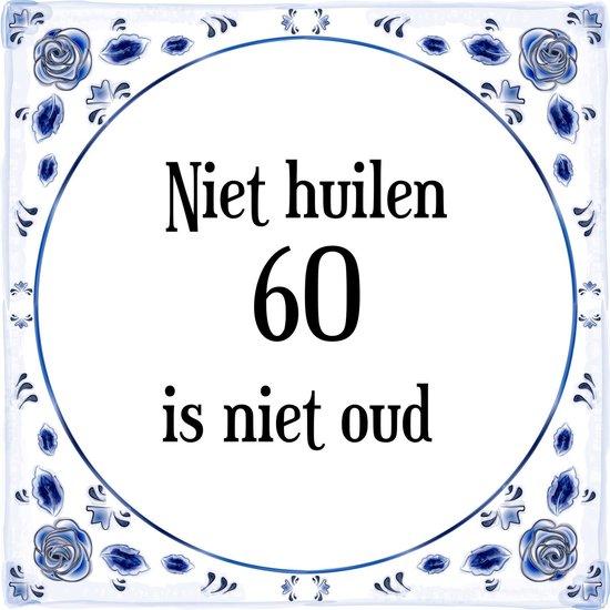 Verwonderend bol.com   Verjaardag Tegeltje met Spreuk (60 jaar: Niet huilen 60 ZI-71