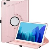 Samsung Galaxy Tab A7 Lite Multi Stand Case - 360 Draaibaar Tablet hoesje - Tablethoes - Rosé Goud