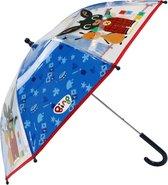 Bing Paraplu Rainy Days Junior 73 Cm Pvc Transparant/blauw
