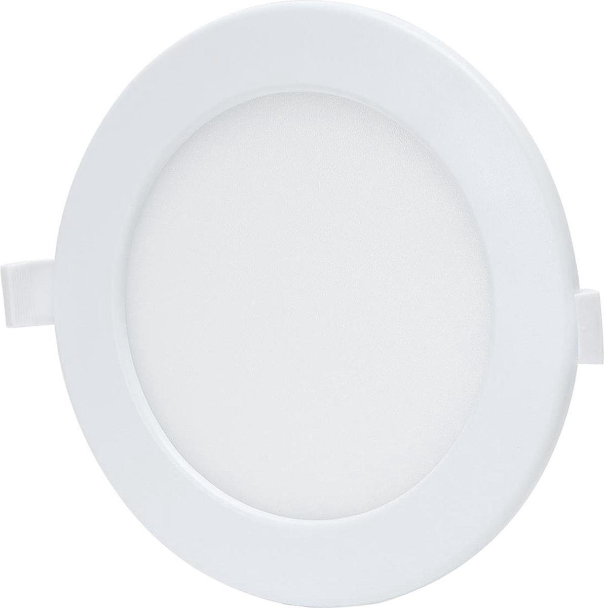 LED Downlight - Smart LED - Igory Zumba - 12W - Aanpasbare Kleur - Inbouw Rond - Mat Wit - Aluminium - Ø160mm