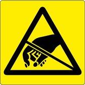 Vloerpictogram waarschuwing voor ESD-gevoelige producten  Geel & Zwart   Anti-slip-vloersticker