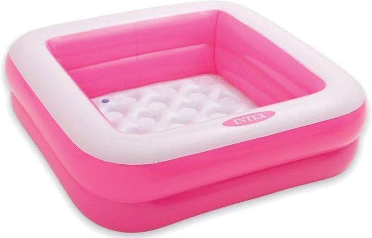 opblaaszwembad 57100NP Play Box 85 x 23 cm roze