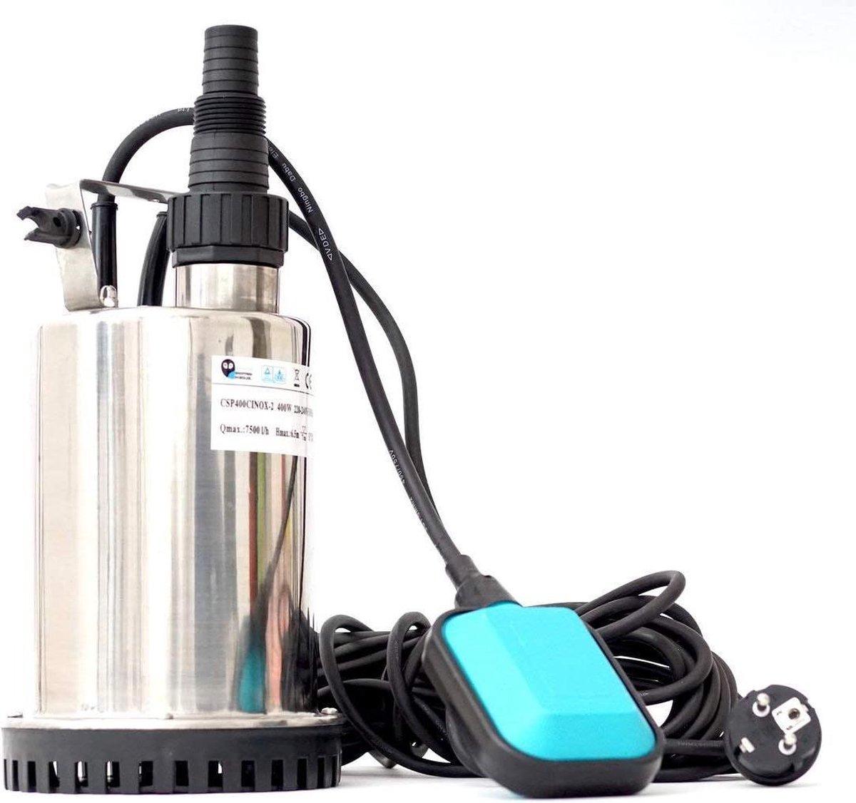 zwembadpomp-professional csp900cinox platte zuigpomp / dompelpomp / kelderpomp / vuile waterpomp / zwembadpomp gemaakt van hoogwaardige roestvrijstalen behuizing met 900 watt (leveringscapaciteit 12000 liter / h) - (WK 02123)