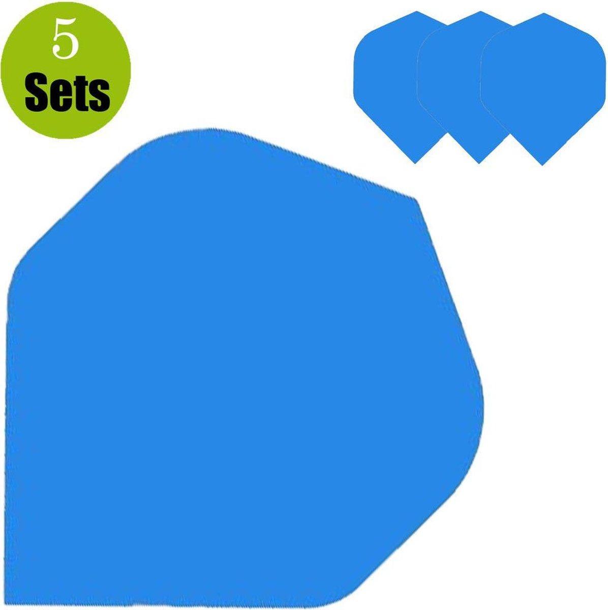 Poly Plain Dartflights - Blauw- (5 Sets)