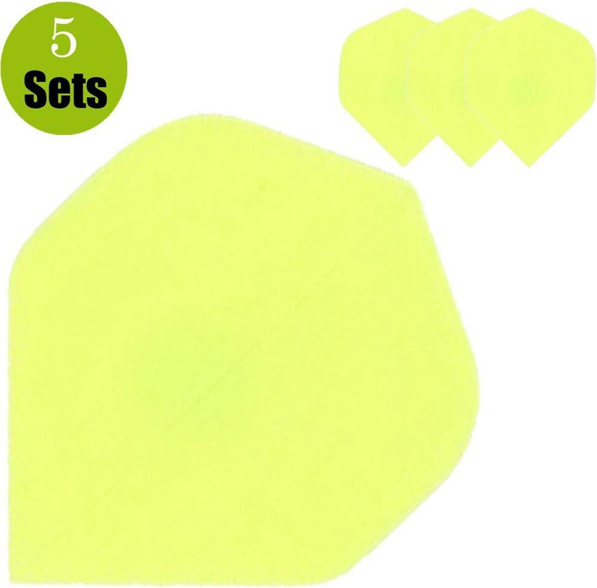 Poly Plain Dartflights - Fluor Geel- (5 Sets)