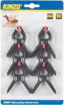 6x Zwarte hobby lijmklemmen 65 mm - Marktkraam klemmen/ hobbyklemmen 6 stuks