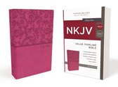 NKJV, Value Thinline Bible, Leathersoft, Pink, Red Letter Edition, Comfort Print