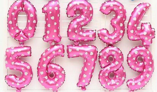 XL Folie Ballon (4) - Helium Ballonnen – Folie ballonen - Verjaardag - Speciale Gelegenheid  -  Feestje – Leeftijd Balonnen – Babyshower – Kinderfeestje - Cijfers - Roze