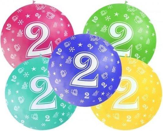 Mega ballon 2 jaar feestartikelen van 92 cm diameter  bordeaux