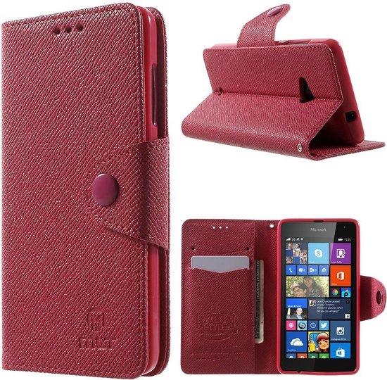 Mlt Wallet hoesje Microsoft Lumia 535 Donker roze