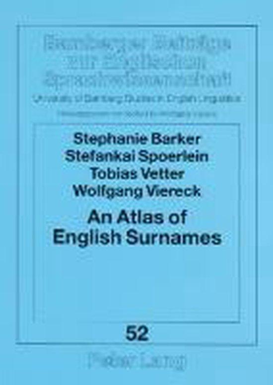 Boek cover An Atlas of English Surnames van Stephanie Barker (Paperback)