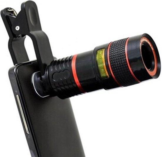 Clip-on Zoomlens Smartphone 12x Zoom - Telefoon Opzetlens / Telescoop / Telelens