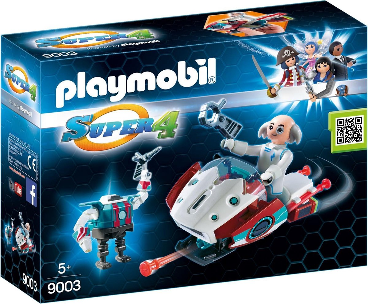 Playmobil Super 4: Skyjet Met Dr. X & Robot (9003)