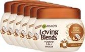 Garnier Loving Blends Kokos & Macadamia Haarmasker - 6 x 300 ml - Voordeelverpakking