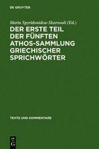 Boek cover Der erste Teil der funften Athos-Sammlung griechischer Sprichwoerter van