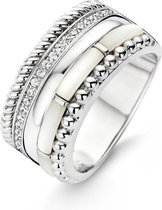 TI SENTO Milano Ring 12038MW - Maat 60 (19 mm) - Gerhodineerd Sterling Zilver