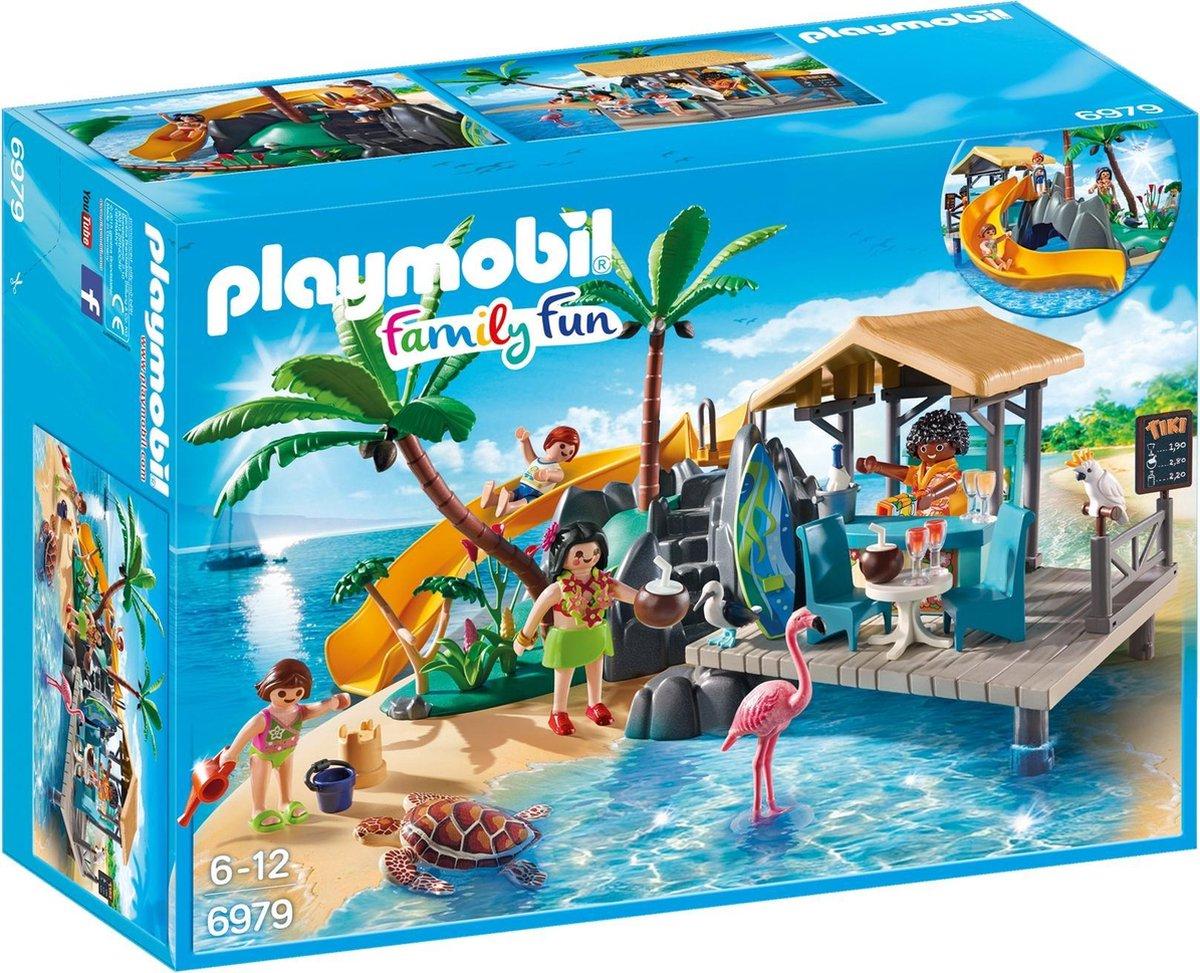 PLAYMOBIL Family Fun Vakantie-eiland met strandbar - 6979