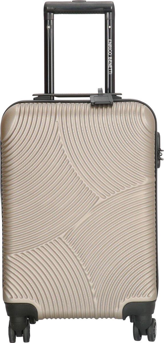 Enrico Benetti Handbagage koffer LouisvilleHoogte 52 cm - champagne
