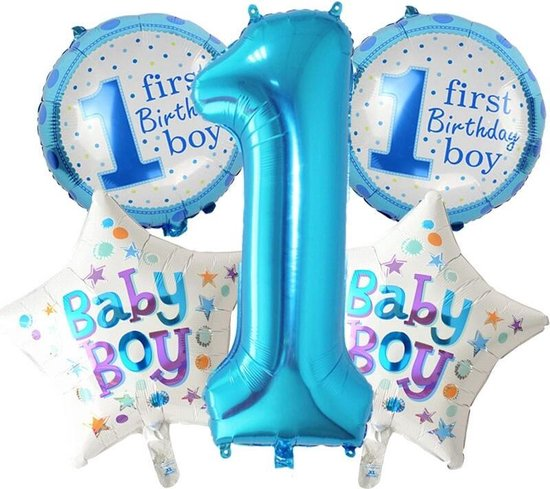 Ballonnen set First Birthday Boy
