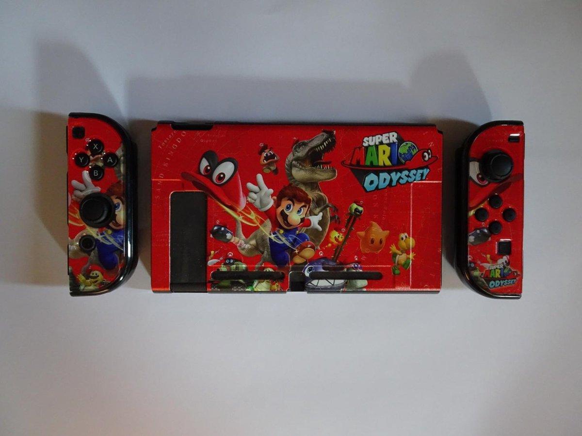 Nintendo Switch Cover Mario odyssey hard cover inclusief Screen Protector - Merkloos