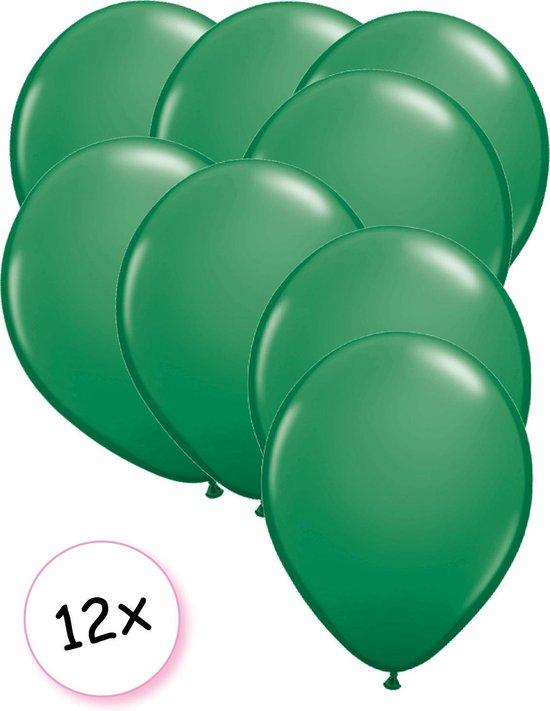 Ballonnen Groen 12 stuks 27 cm