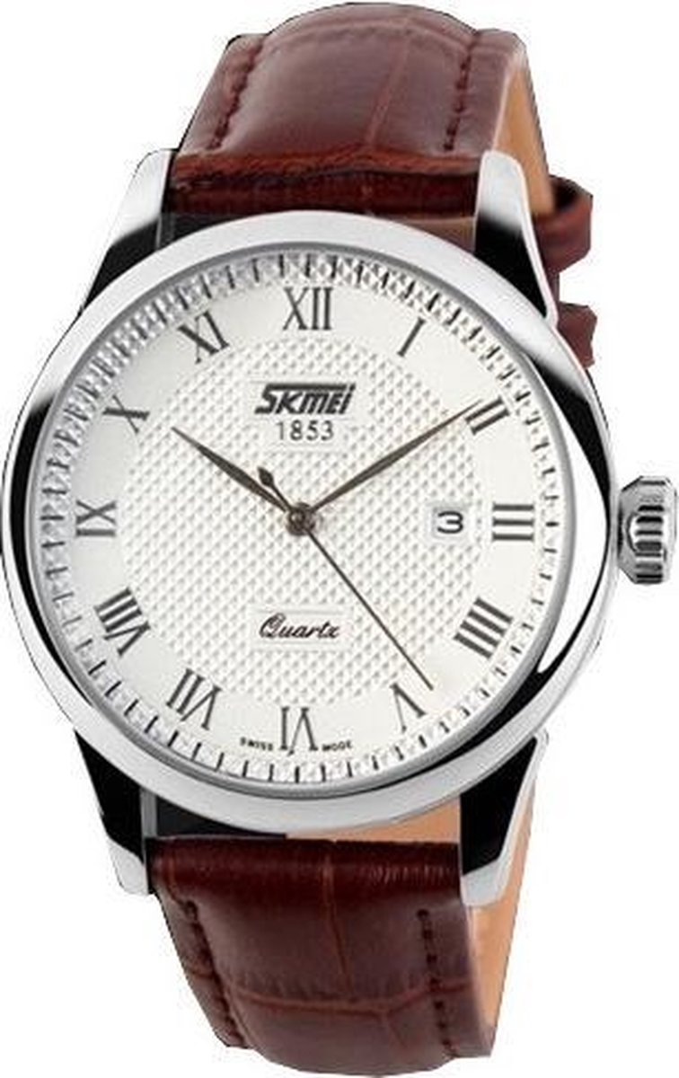 Klassiek Heren Horloge – Leren band - Polshorloge - Giftbox