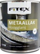 Fitex-Metaallak-Hoogglans-Ral 9016 Verkeerswit 1 liter