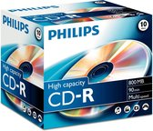 Philips CD-R 800MB 10pcs jewel case carton box mutlispeed