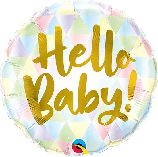 Folie ballon Hello Baby Pastel - 46 cm
