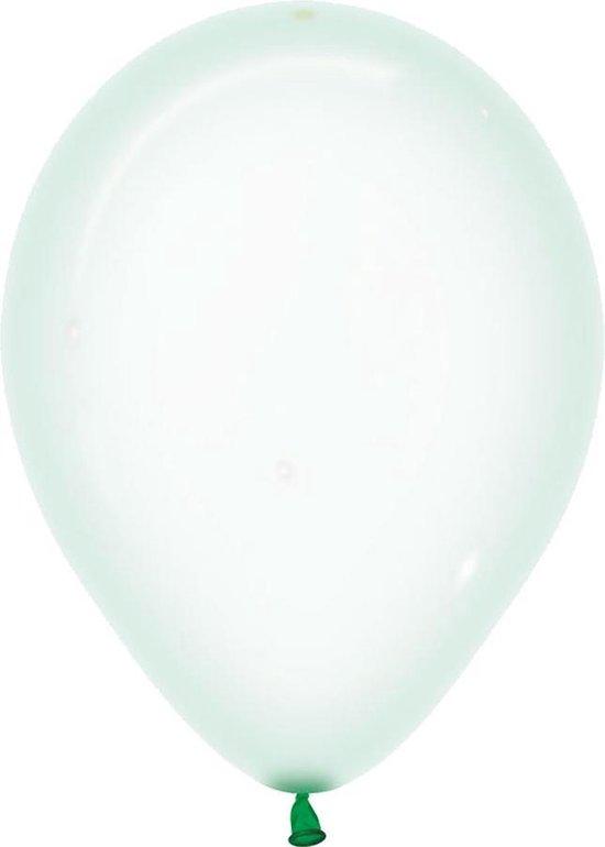 Ballonnen Crystal Pastel Groen - 5 stuks