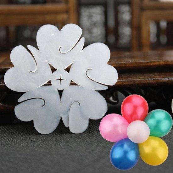 Transparante Ballonclip Bloemen - 3 stuks