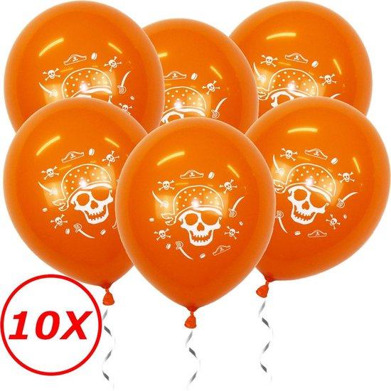 Halloween Versiering Decoratie Helium Ballonnen Feest Versiering Halloween Accessoires Ballon Oranje Piraat – 10 Stuks