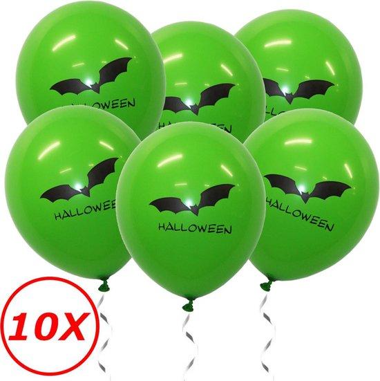Halloween Versiering Decoratie Helium Ballonnen Feest Versiering Halloween Accessoires Ballon Groen Vleermuis – 10 Stuks