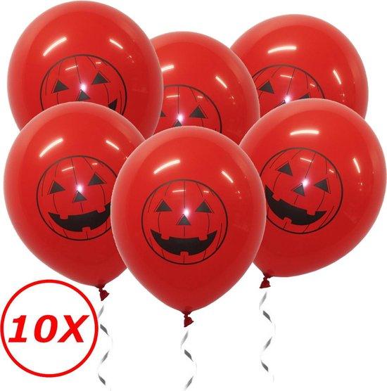 Halloween Versiering Decoratie Helium Ballonnen Feest Versiering Halloween Accessoires Ballon Rood Pompoen – 10 Stuks