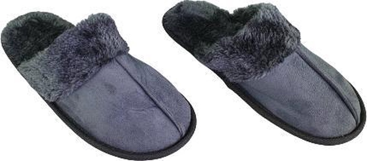 Pantoffels Slippers Fur - Grijs - Maat 37
