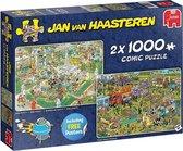 Jan van Haasteren Food Festival 2019 (zonder theedoek) 2-in-1 puzzel - 2 x 1000 stukjes