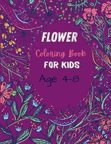 Flower Coloring Book For Kids Age 4-8