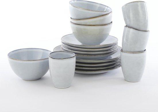 Mica Decorations Tabo 16-Delige Serviesset - Keramiek - Grijs