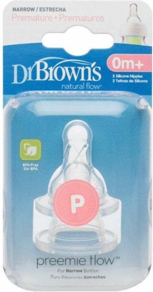 Dr. Brown's Standaard Prematuur Fles speen - 2 stuks