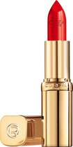 L'Oréal Paris Color Riche Satin Lipstick - 125 Maison Marais - Rood - Verzorgende lippenstift verrijkt met Arganolie - 4,54 gr