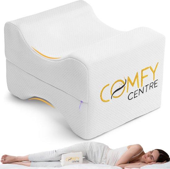 COMFYCENTRE® Kniekussen voor in bed - Beenkussen Orthopedisch - Zijslaapkussen - Knie Kussen voor Zijslapers - Traagschuim - Verlicht heup, knie rugpijn