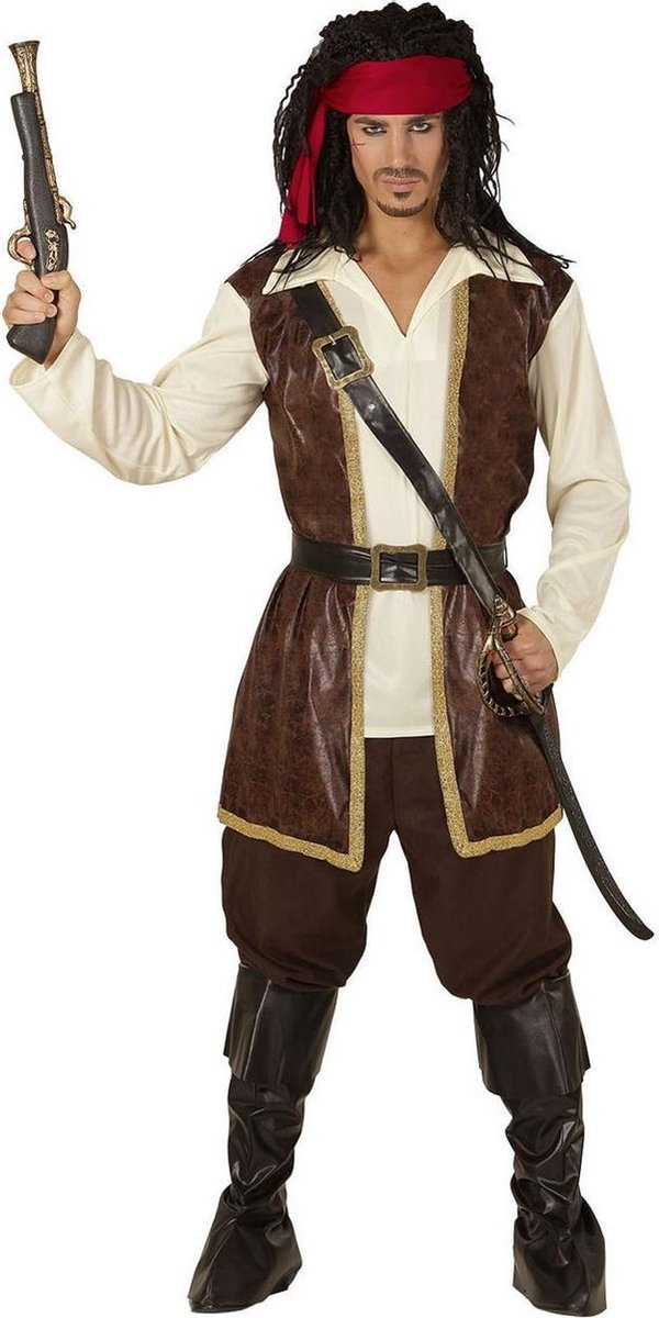 Piraat & Viking Kostuum | Piraat Pedro | Man | XL | Carnaval kostuum | Verkleedkleding
