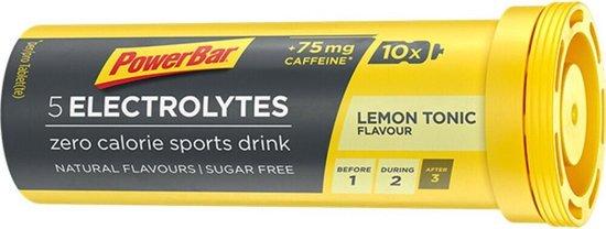Powerbar Sportdrank Electrolyte Tabs - Met 5 Elektrolyten - Citroen Tonic - 10 tabletten