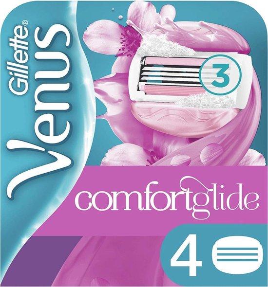 Gillette Venus Breeze Scheermesjes vrouwen - Comfortglide 4 Stuks - Spa Breeze - Roze