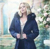 Lexis waterdichte, geïsoleerde Parka jas met capuchon met rand van imitatiebont van Regatta voor dames, Outdoorjas, marineblauw