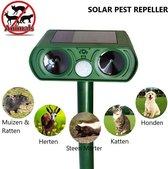 Solar Pest Repeller - Ultrasone Kattenverjager - Ongedierte Bestrijder - Mollen Verjager - Steenmarters verjager - Vogel verjager - Oplaadbare batterij door zonne energie - Ratten & Muizenverjager - Honden Verjager