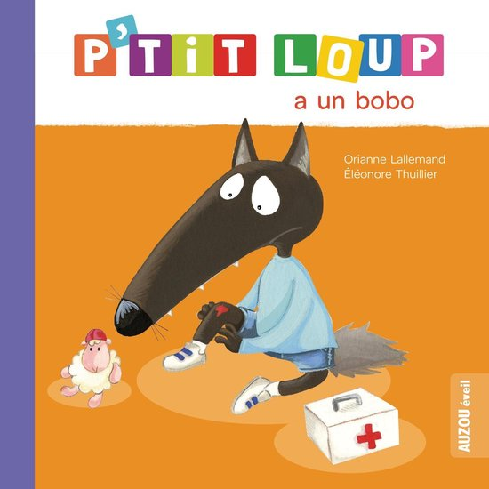 Boek cover Ptit Loup a un bobo van Orianne Lallemand (Hardcover)