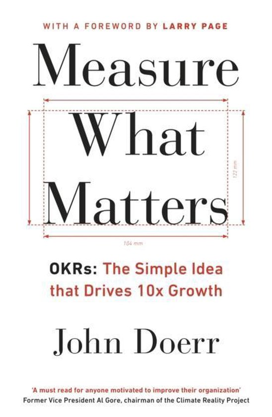 Boek cover Measure What Matters van John Doerr (Paperback)